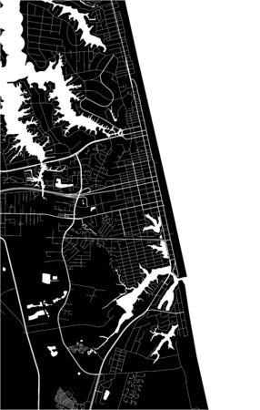 vector map of the city of Virginia Beach, Virginia, United States America