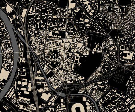 vector map of the city of Saint-Denis, Seine-Saint-Denis, Ile-de-France, France