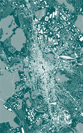 vector map of the city of Saint-Etienne, Loire, Auvergne-Rhone-Alpes, France Illustration