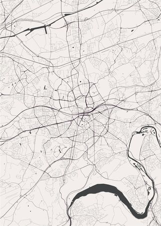 vector map of the city of Essen, Germany