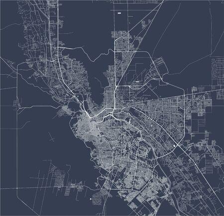 vector map of the city of El Paso, Texas, USA