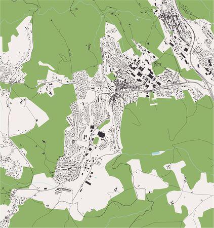 vector map of the city of Roche-la-Molire, Loire, Auvergne-Rhone-Alpes, France