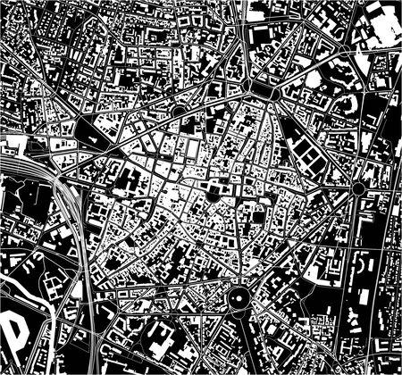 map of the city of Dijon, Cote-dOr, Bourgogne-Franche-Comte, France