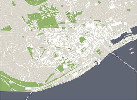 vector map of the city of Dundee, Scotland, UK Vector Illustration