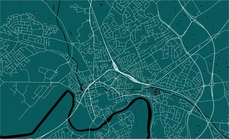 vector map of the city of Chester, Cheshire, North West England, England, UK Vector Illustration