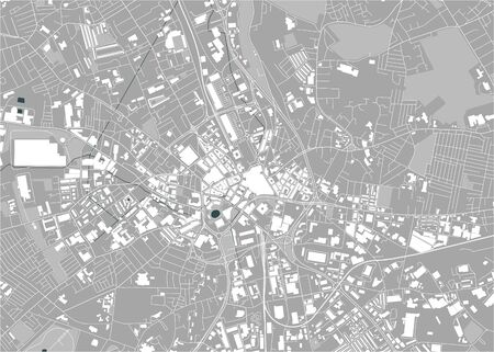 map of the city of Bradford, West Yorkshire, Yorkshire and the Humber , England, UK Иллюстрация