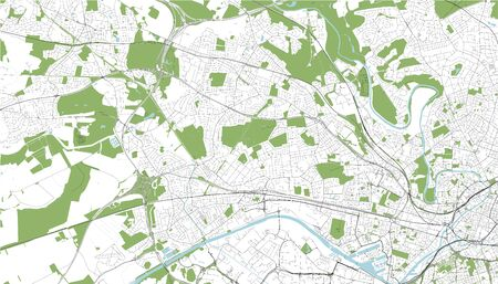 map of the city of Salford, England, England, UK