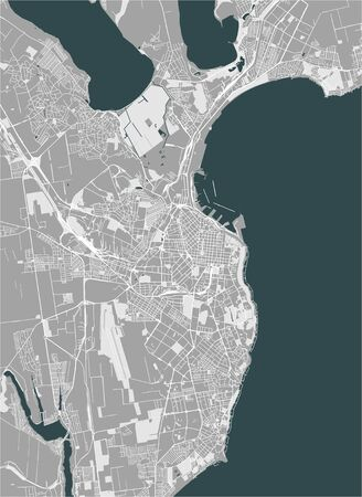 vector map of the city of Odessa, Odessa Oblast, Ukraine Иллюстрация
