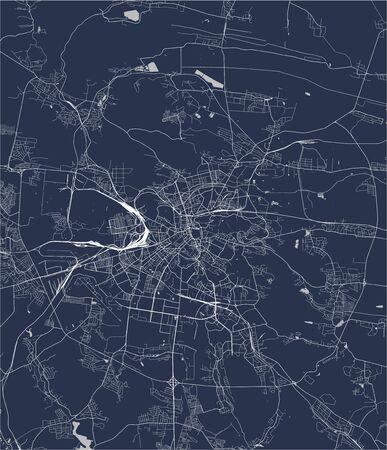 vector map of the city of Lviv, Lviv Oblast, Ukraine