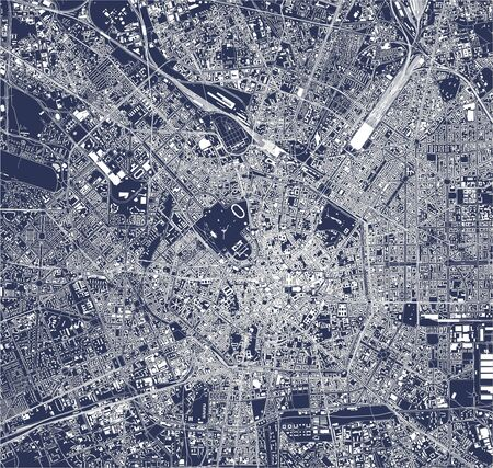 map of the city of Milan, Italy