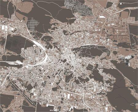 map of the city of Lviv, Lviv Oblast, Ukraine