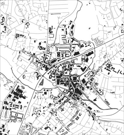 map of the city of Chelmsford, England, UK Иллюстрация
