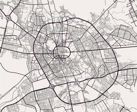 map of the city of Medina, Saudi Arabia Иллюстрация