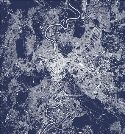 vector map of the city of Rome, Italy