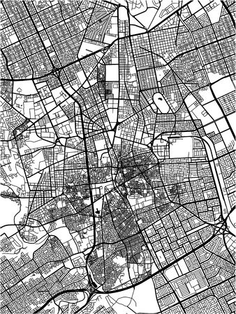 vector map of the city of Riyadh, Riyadh Province , Saudi Arabia