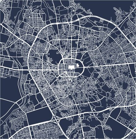 vector map of the city of Medina, Medina Region, Saudi Arabia Ilustração