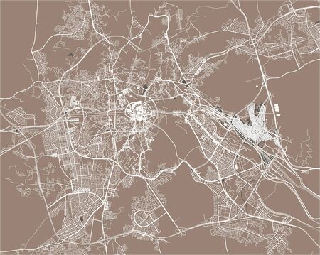 vector map of the city of Mecca, Makkah al-Mukarrammah Province, Saudi Arabia