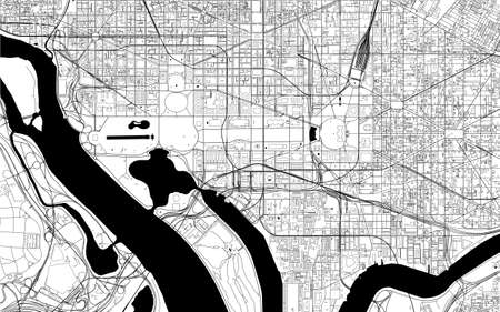 map of the city of Washington, D.C., USA