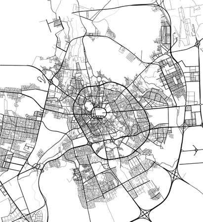 map of the city of Medina, Saudi Arabia 向量圖像