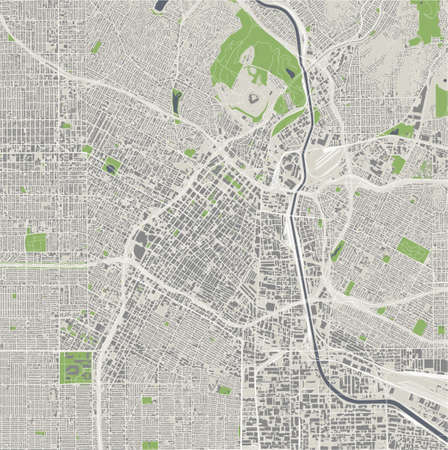 map of the city of Los Angeles, USA Imagens