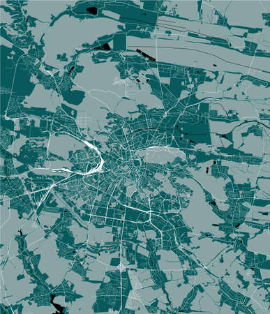 map of the city of Lviv, Lviv Oblast, Ukraine Imagens - 151610595