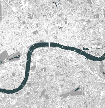 map of the city of London, Great Britain