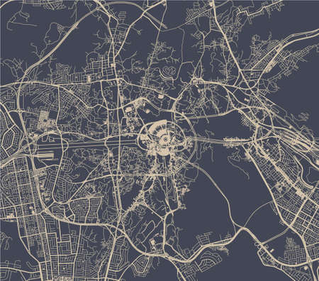 map of the city of Mecca, Saudi Arabia Ilustrace