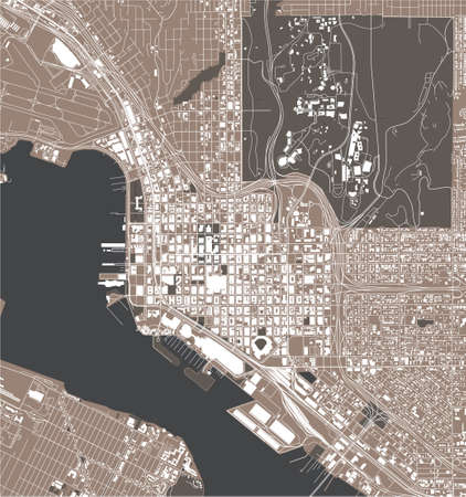 map of the city of San Diego, California, USA