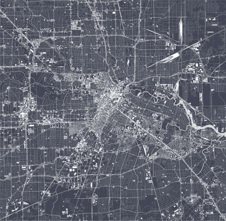 map of the city of Houston, Texas, USA Vettoriali
