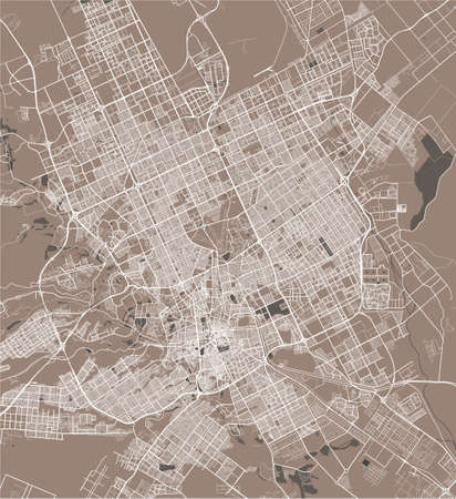 map of the city of Riyadh, Saudi Arabia