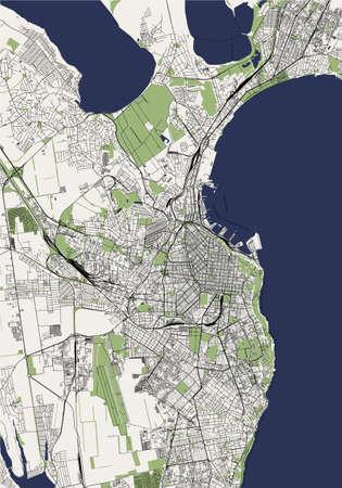 map of the city of Odessa, Odessa Oblast, Ukraine