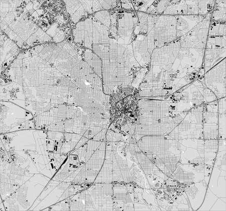 map of the city of San Antonio, Texas, USA Ilustrace