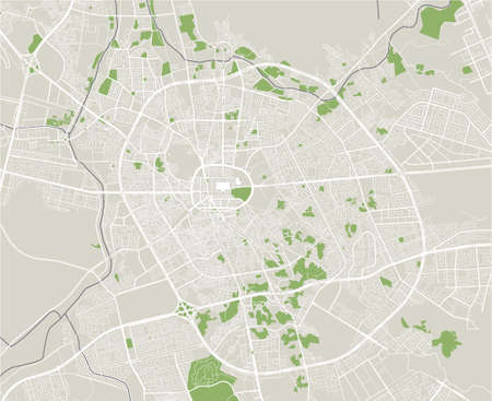 map of the city of Medina, Saudi Arabia Ilustrace