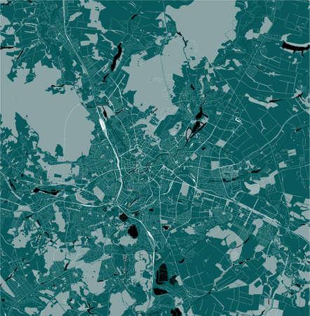 map of the city of Kharkiv, Ukraine