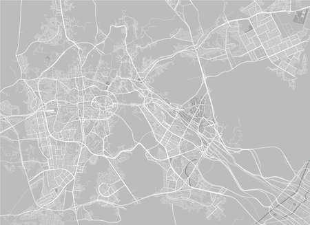 map of the city of Mecca, Saudi Arabia 向量圖像