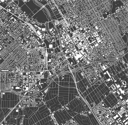 map of the city of San Jose, California, USA