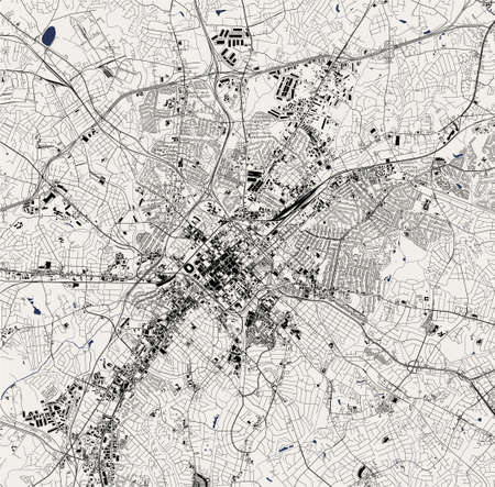 map of the city of Charlotte, USA