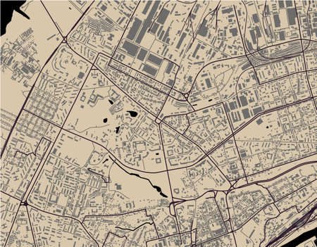 map of the city of Vladimir, Russia