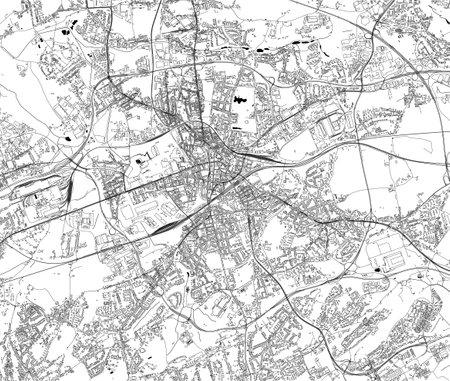 map of the city of Bochum, Arnsberg, Germany