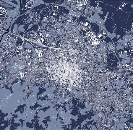 map of the city of Bologna, Emilia-Romagna, Italy