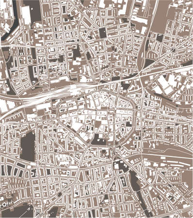 map of the city of Dortmund, Germany
