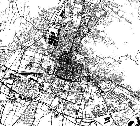 map of the city of Brescia, Lombardy, Italy Ilustração