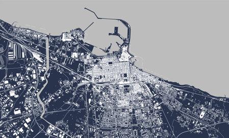 map of the city of Bari, Apulia, Italy