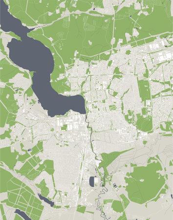 map of the city of Izhevsk, Russia Ilustração