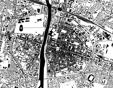map of the city of Parma, Emilia-Romagna, Italy
