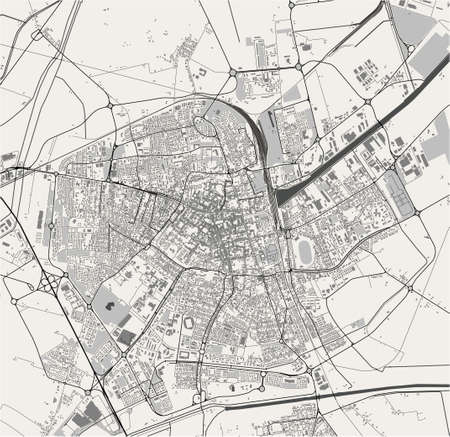 map of the city of Ravenna, Italy