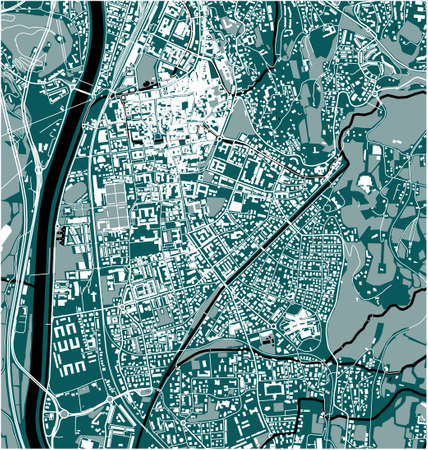 map of the city of Trento, Italy