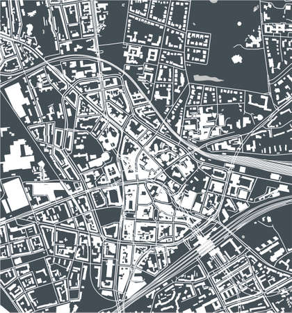 map of the city of Bochum, Arnsberg, Germany