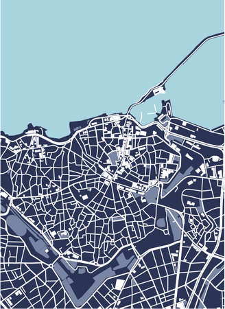 map of the city of Heraklion, Crete, Greece