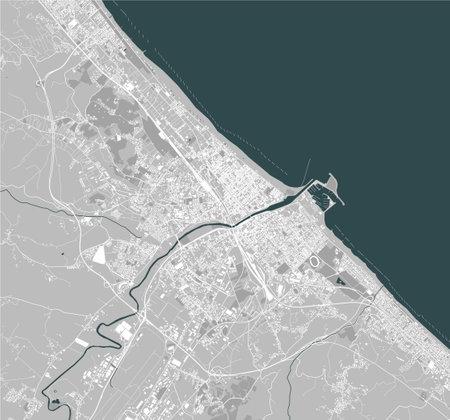 map of the city of Pescara , Abruzzo, Italy